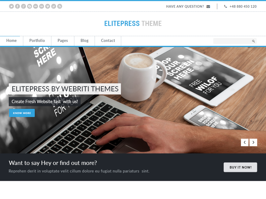 ElitePress free wordpress theme