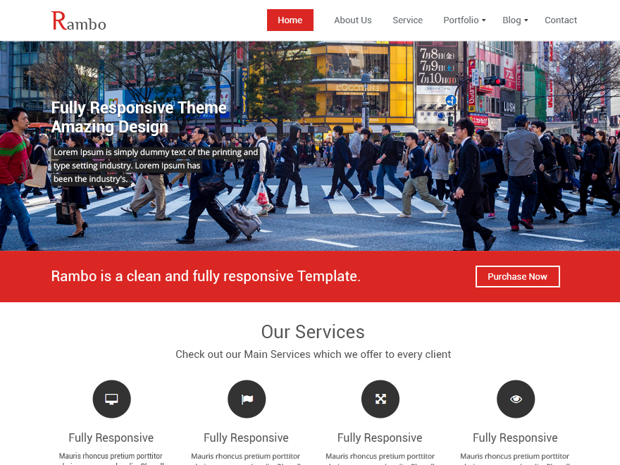 Rambo free wordpress theme