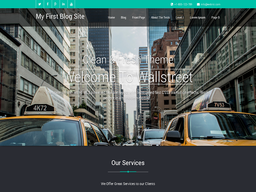 WallStreet free wordpress theme