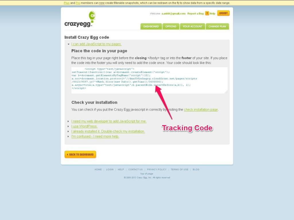 Crazy Egg Actual Tracking Code