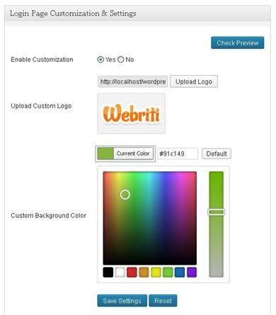 Custom Login Screen for WordPress