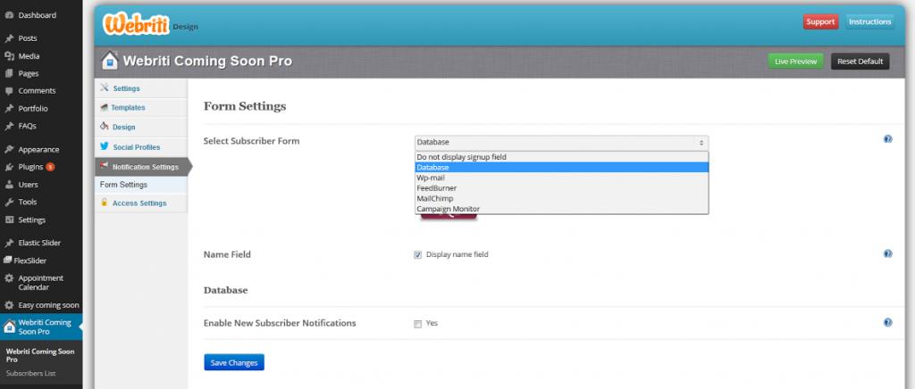 Newsletter Integration Screenshot