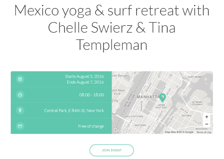asana wordpress theme events section
