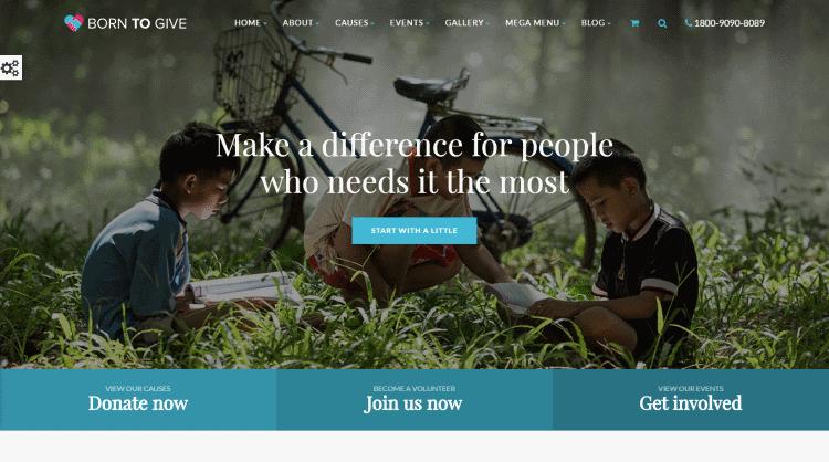 Born To Give WordPress Theme