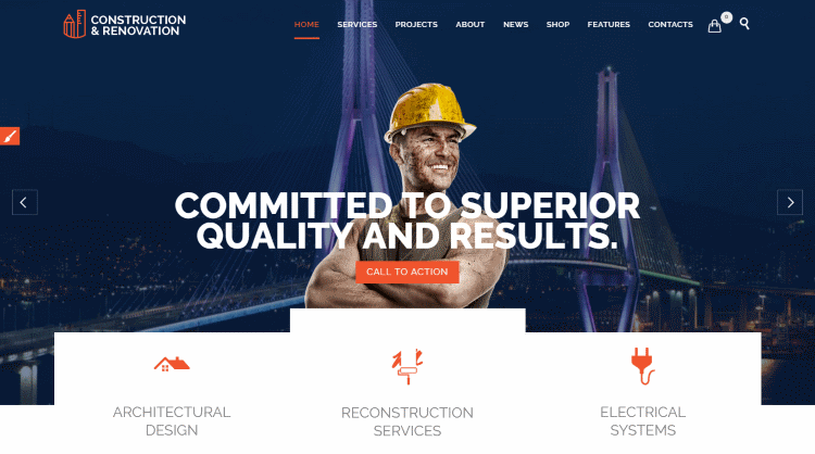 Construction - Construction Building Company WordPress Theme