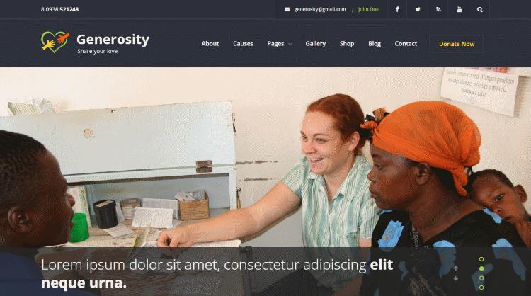 Generosity WordPress Theme