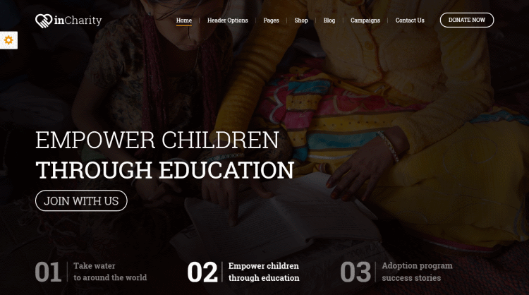 inCharity WordPress Theme