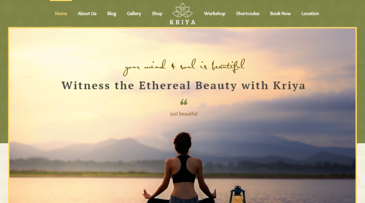 Kriya WordPress Theme