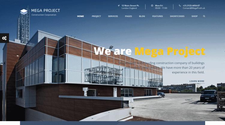 Mega Project WordPress Theme