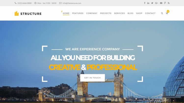 Structure WordPress Theme
