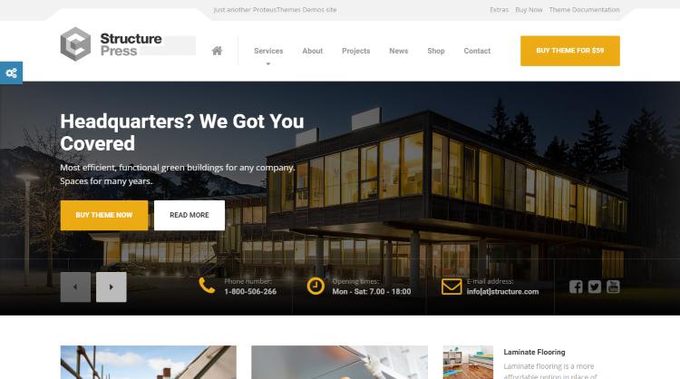 StructurePress WordPress Theme
