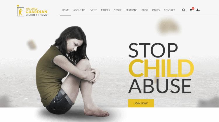 The Child Guardian WordPress Theme