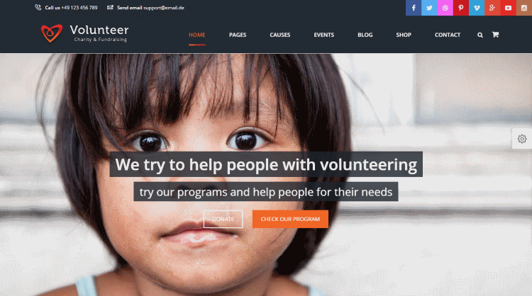 Volunteer WordPress Theme