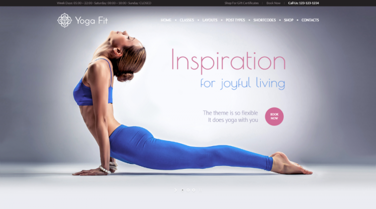 Yoga Fit WordPress Theme