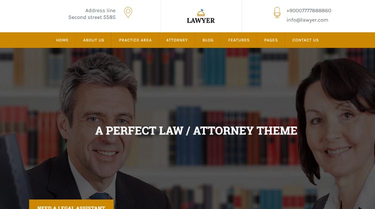 A Lawyer WordPress Theme