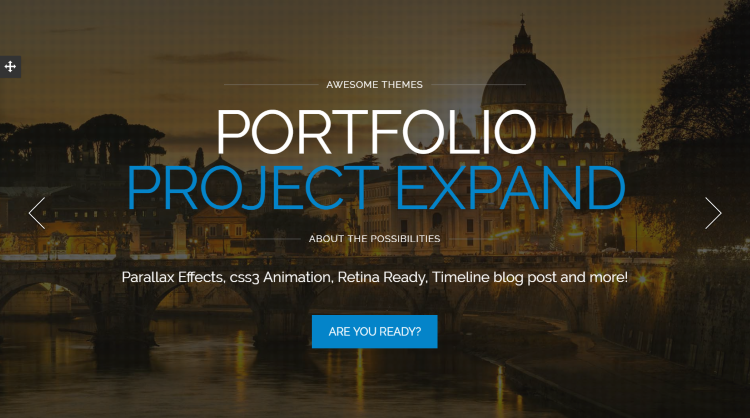 Alpine Parallax One Page WordPress Theme