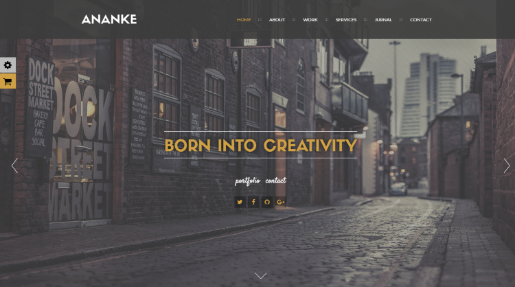 Ananke Parallax WordPress Theme