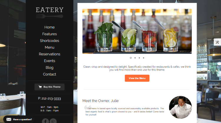 Eatery WordPress Theme