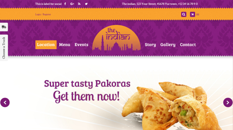 Food Truck and Restaurant WordPress Themes