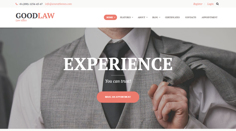 GoodLaw Lawyer WordPress Theme