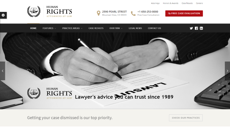 HumanRights Lawyer WordPress Theme
