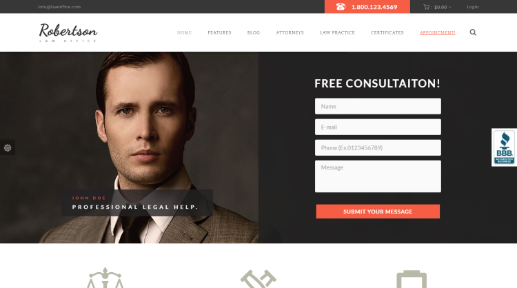 Law Office WordPress Theme
