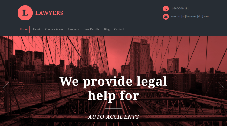 Lawyers WordPress Attorneys Theme