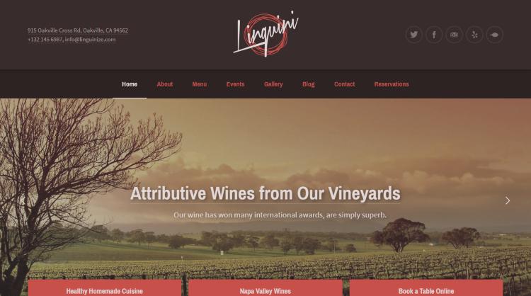 Linguini Restaurant WordPress Themes