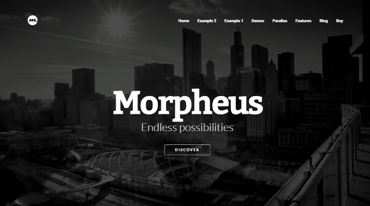 Morpheus Parallax WordPress Theme