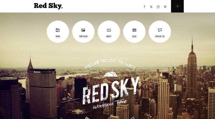 Red Sky Parallax WordPress Theme