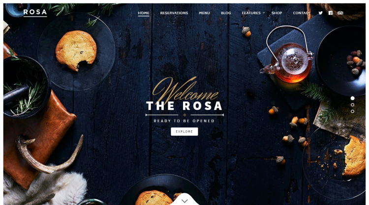 Rosa Restaurant WordPress Theme
