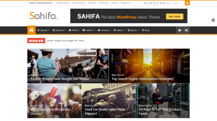Sahifa WordPress Theme
