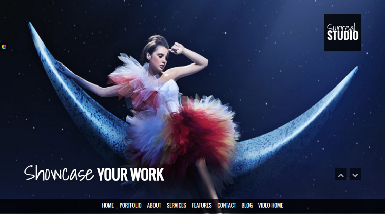 Surreal Parallax WordPress Theme