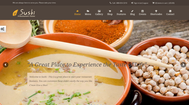 Sushi Restaurant WordPress Theme