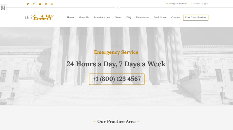 The Law WordPress Theme