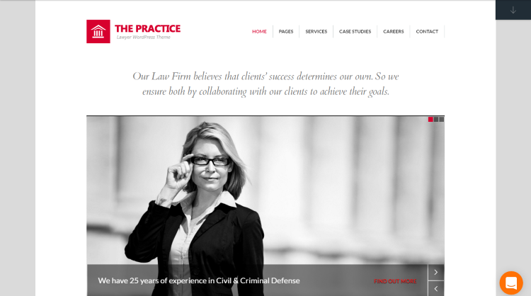 The Practice WordPress Theme