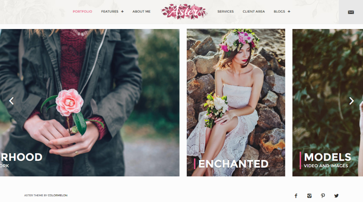 Aster Photography WordPress Theme
