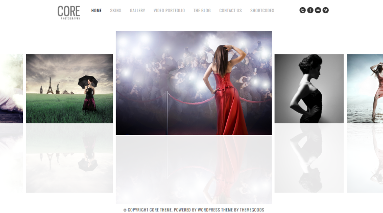 Core Minimalist Photography Portfolio WordPress Theme