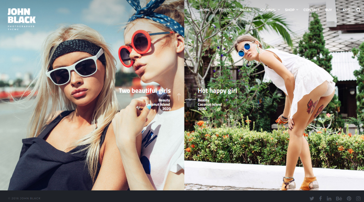 JohnBlack Photography WordPress Theme