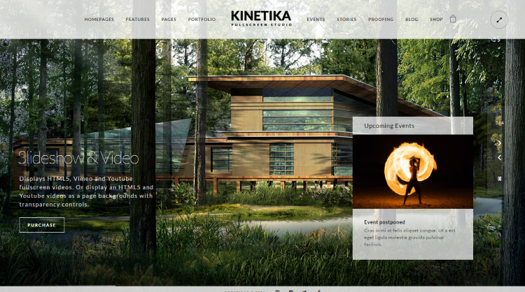 Kinetika Fullscreen Photography WordPress Theme