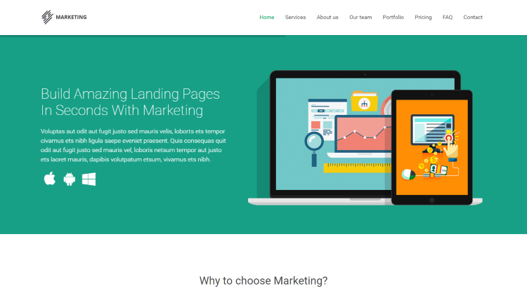 Marketing Startup WordPress Theme