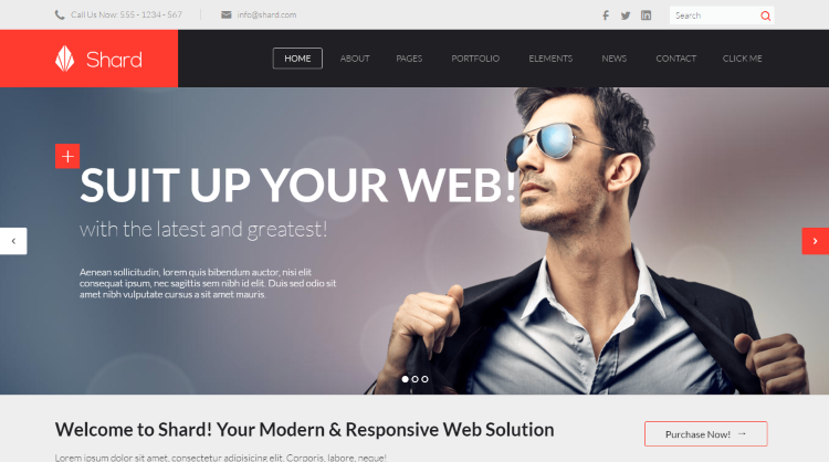 Shard WordPress Theme