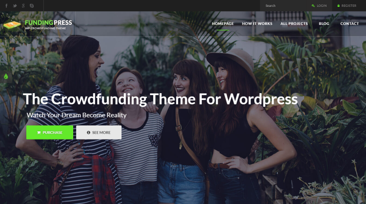 Fundingpress Crowdfunding WordPress Theme