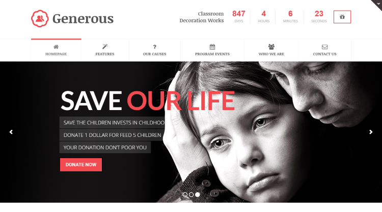 Generous WordPress Theme