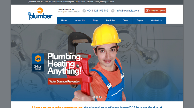Plumber Building Construction Business Theme