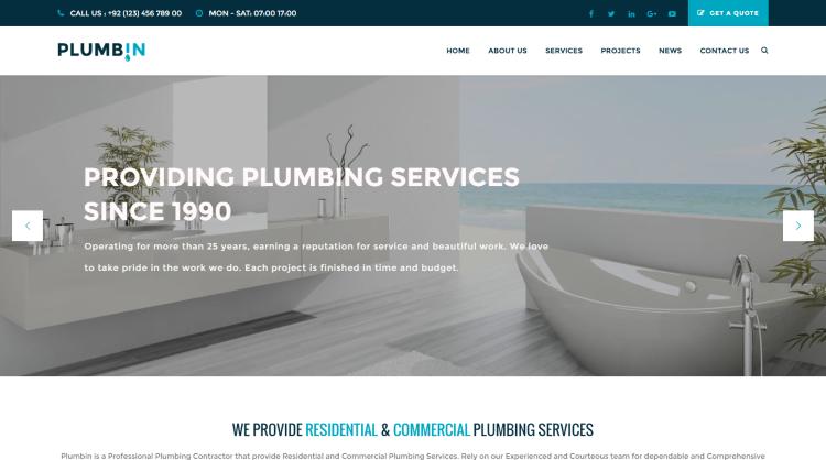 Plumbin WordPress Theme