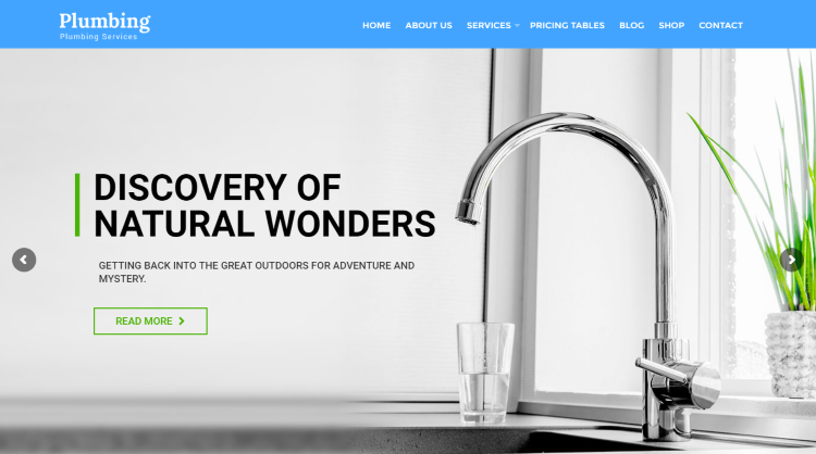 Plumbing Plumber Repair Services WordPress Theme