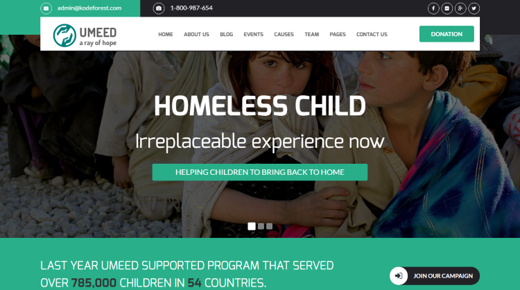 Umeed Crowdfunding WordPress Theme
