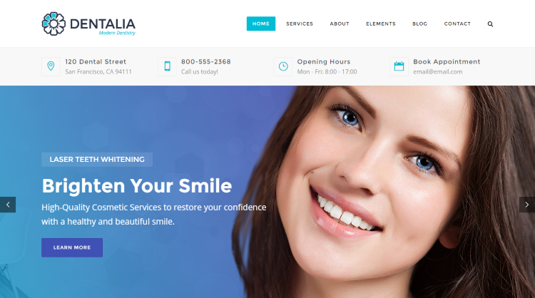 Dentalia Medical WordPress Theme