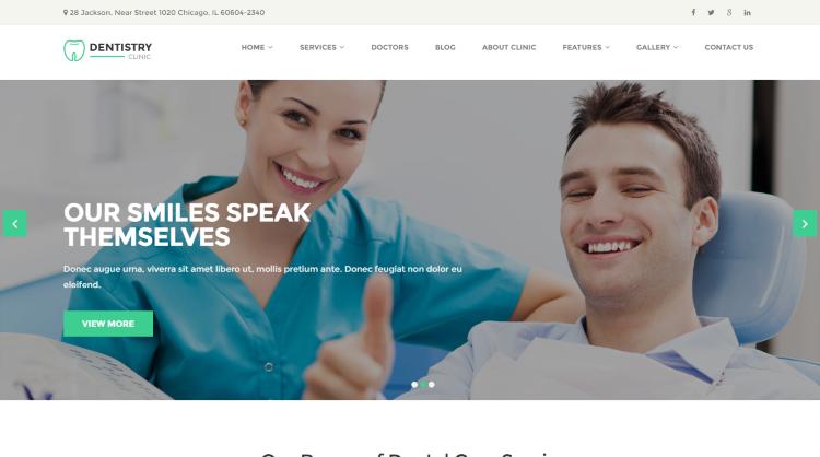 Dentistry WordPress Theme
